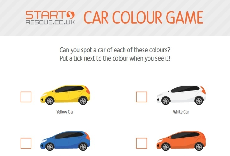 as well as being a lot of fun this car colour game may inspire some interesting debates over what is orange and what is yellow what is blue and what is